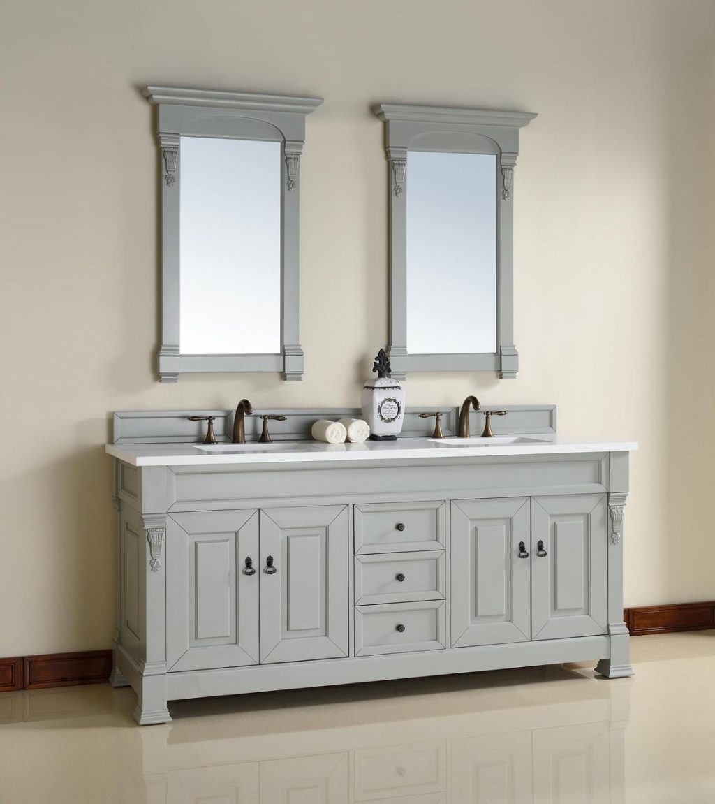 Abstron 72 Inch Urban Grey Double Bathroom Vanity Optional Countertops