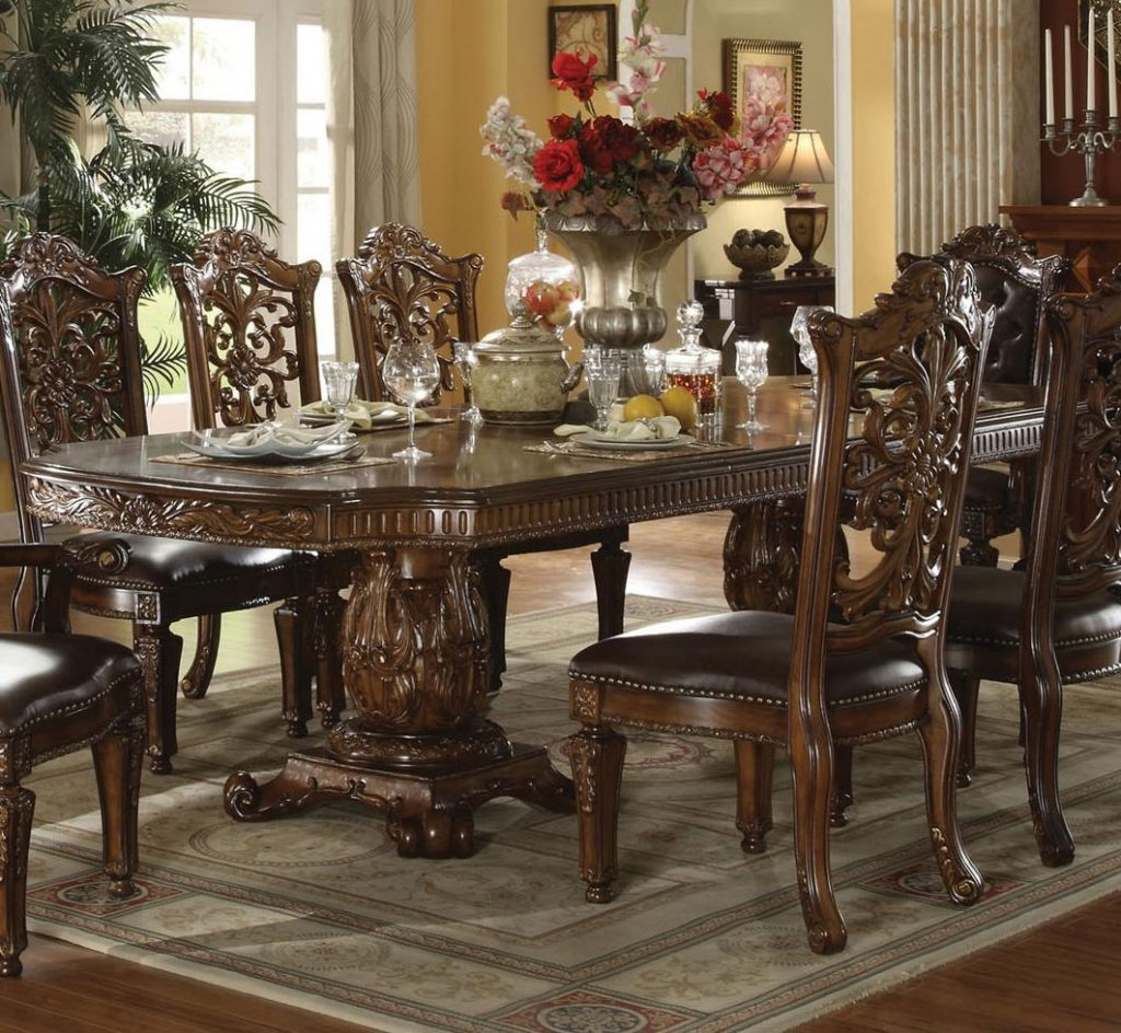 Acme Furniture Vendome 60000 Traditional Formal Dining Table Del