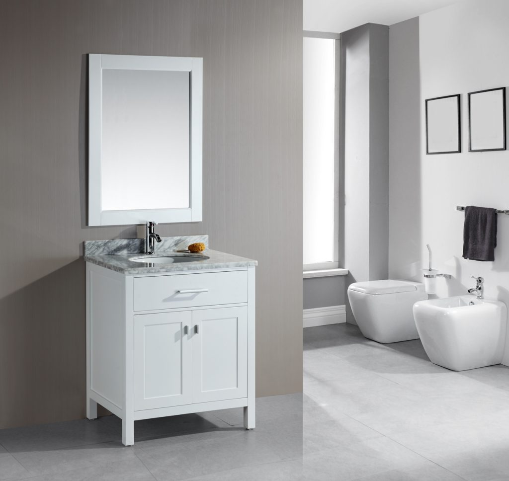 Adorna 30 Single Bathroom Vanity White Finish Is Constructed Of