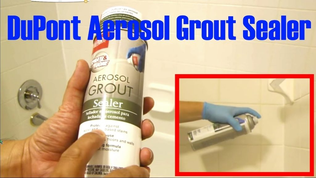 Aerosol Grout Sealer Dupont For Bathroom Youtube