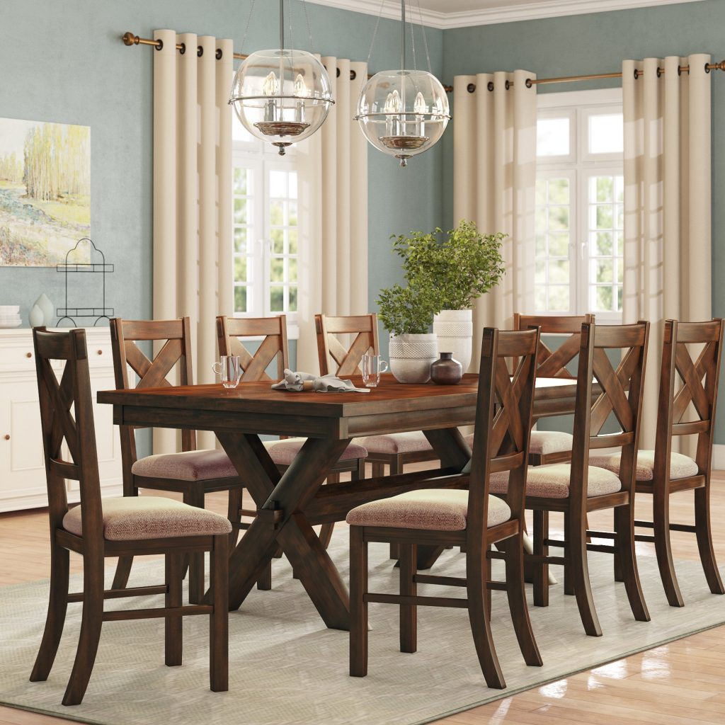 Alcott Hill Warsaw 9 Piece Extendable Dining Set Reviews Wayfair