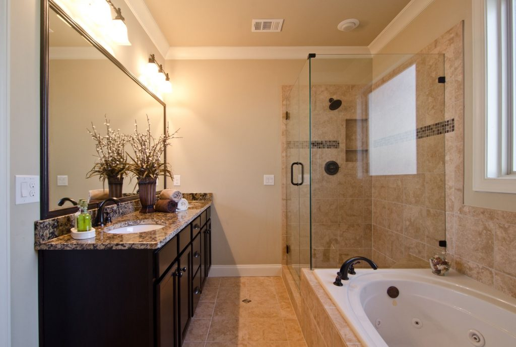 Alluring Bathroom Ideas For Mobile Home Remodel Design With Black