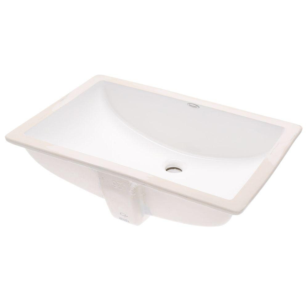 American Standard Studio Rectangular Undermount Bathroom Sink In