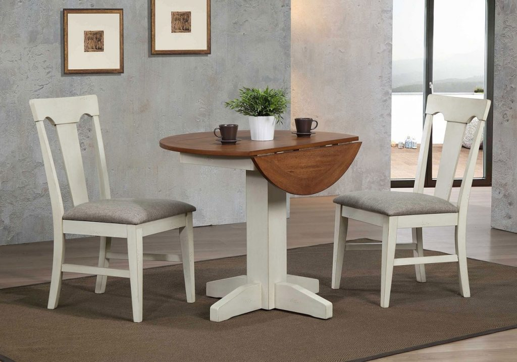 Antique White Drop Leaf Dining Room Set Casual Dining Sets