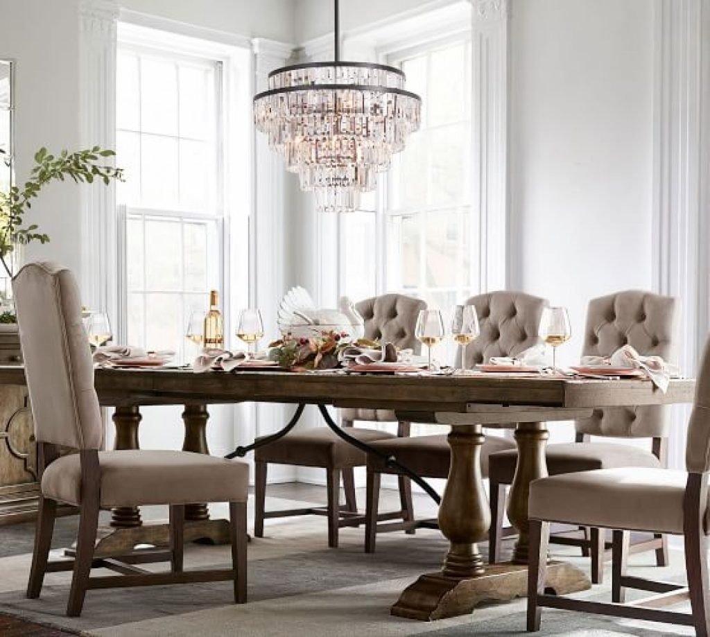 Appealing Pottery Barn Dining Room Sets Extending Lorraine Table