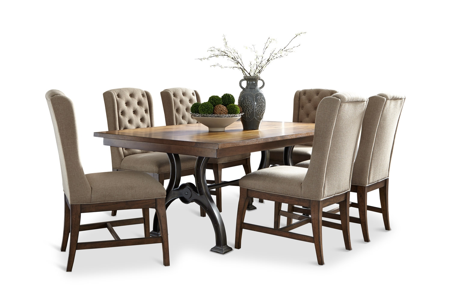 Arlington House Trestle Table With 4 Chairs Hom Furniture Layjao
