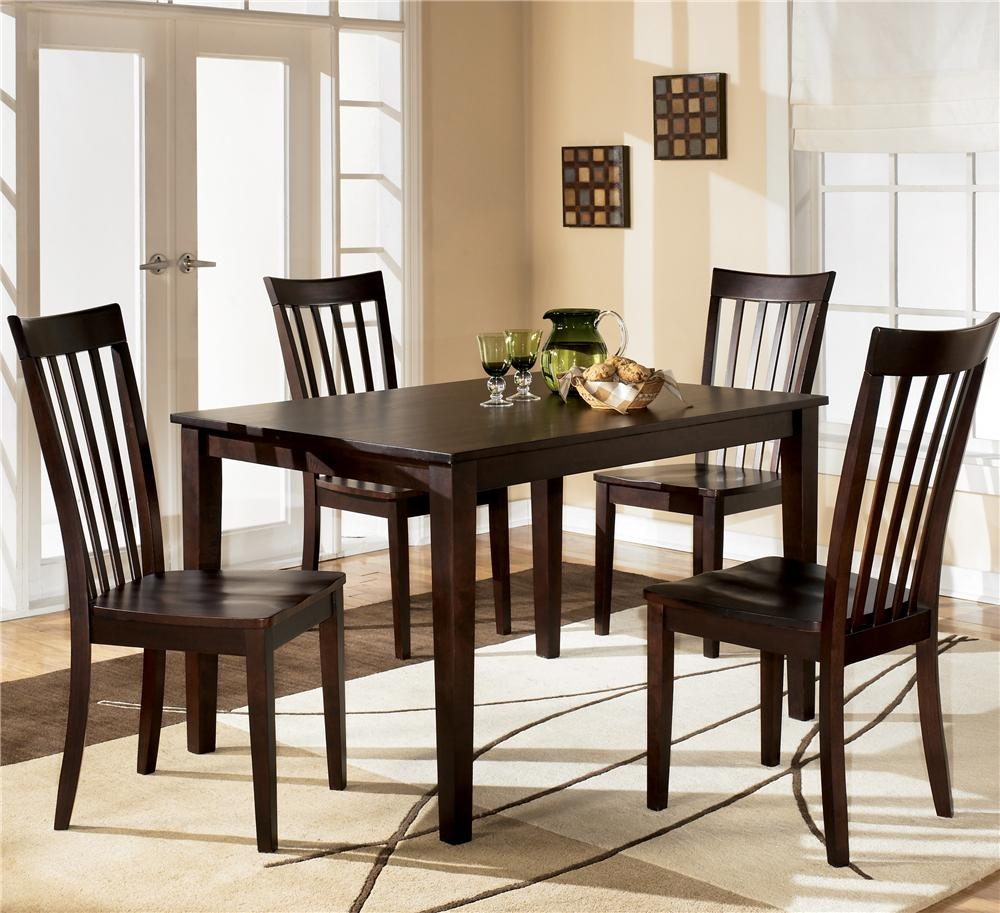 Ashley Furniture Hyland 5 Piece Dining Set With Rectangular Table