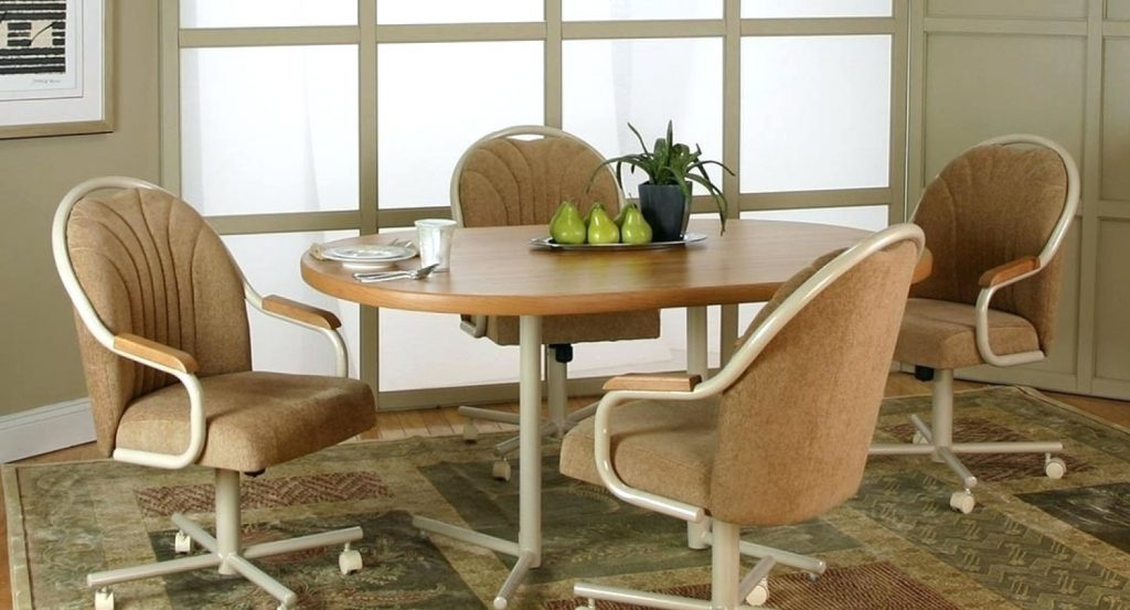 Attractive Chair Dining Chairs With Casters Uk Cool Throughout