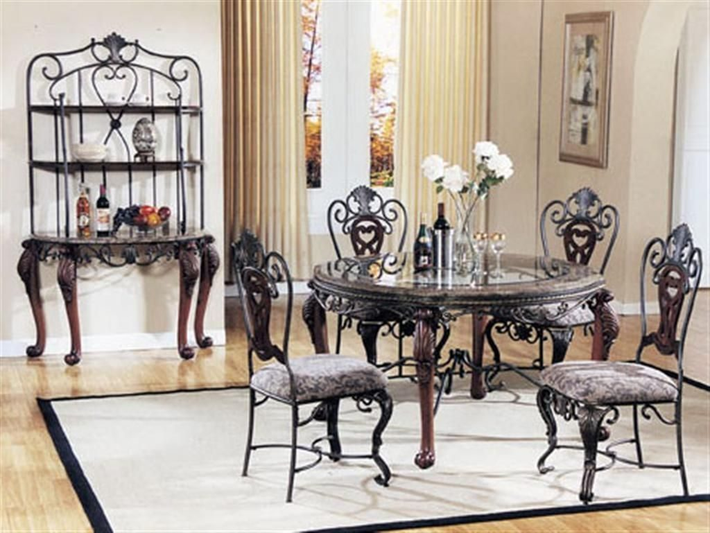 Awesome Appealing Classic Glass Dining Room Table Sets Ideas With