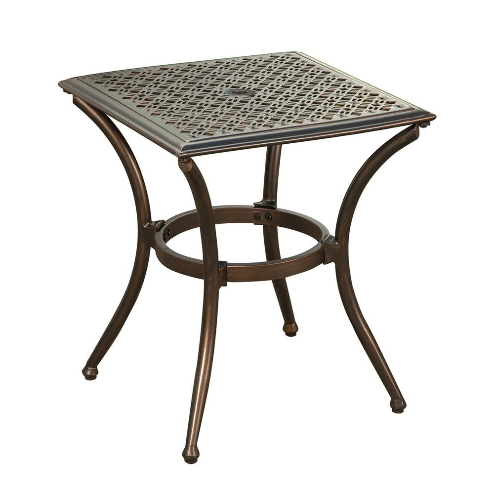 Bali Bronze Metal Outdoor Side Table With Feet Glides 3031 Et2020 Ab