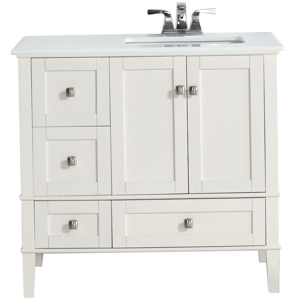 Bathroom 36 Inch Vanity With Sink 24 White Bathroom Vanity With