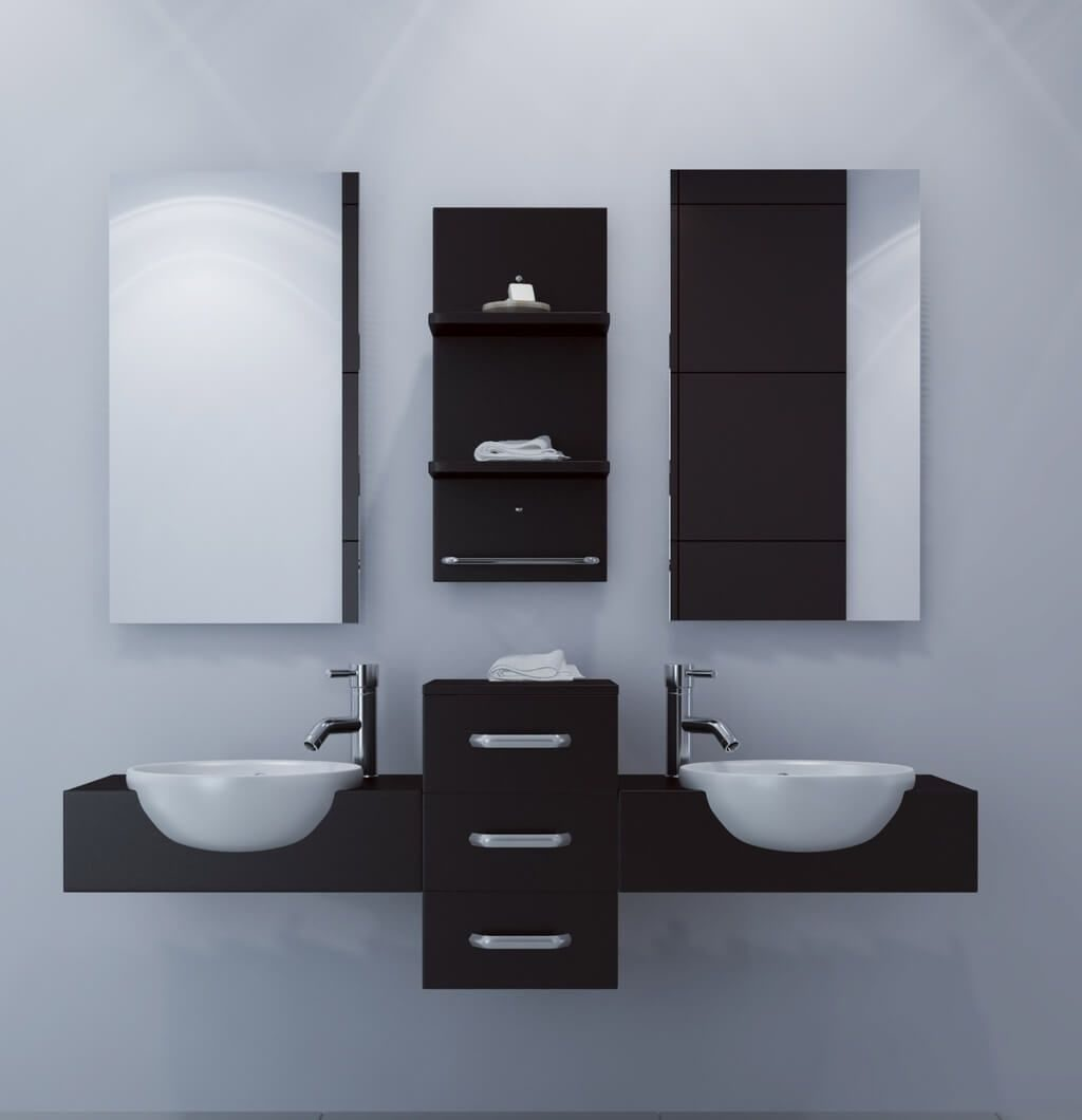 Bathroom Best Floating Bathroom Vanity Set With Double Sink And