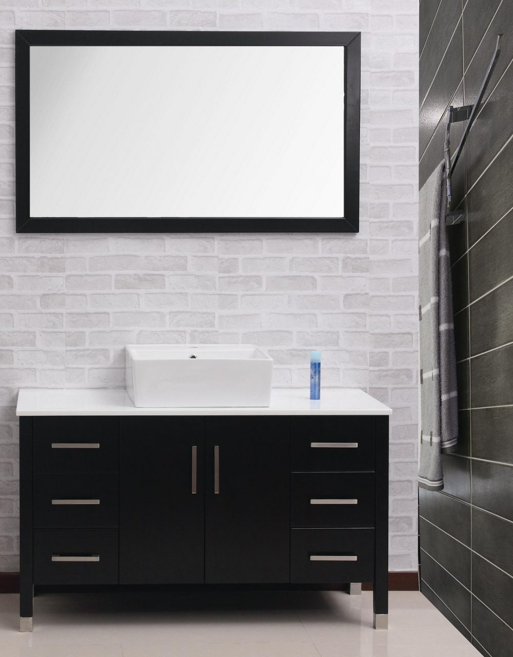 Bathroom Chic Modern Wall Cabinet Design With Floating Black Amazing