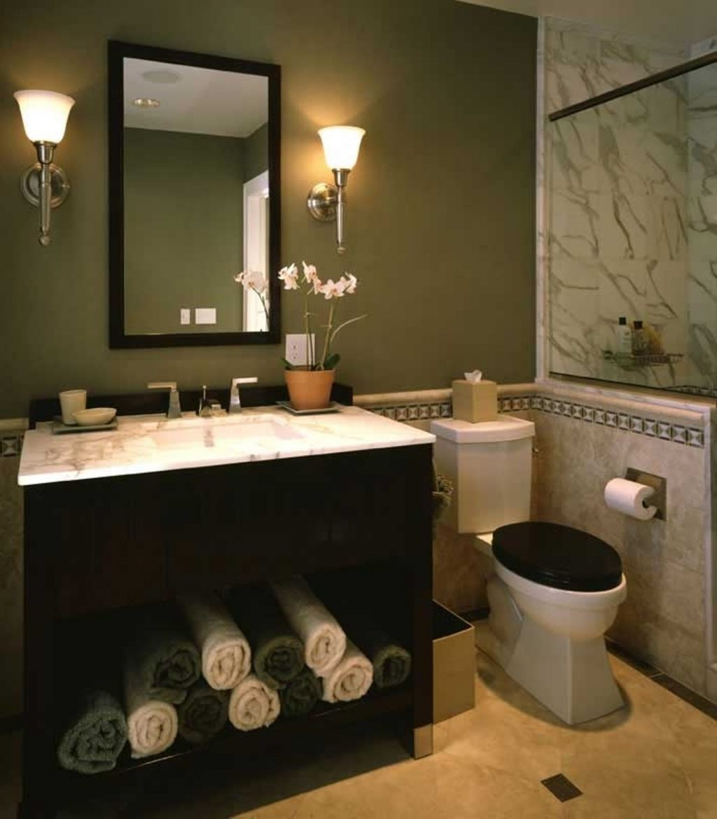 Bathroom Earth Tone Color Schemes Of Stainless Steel Free Standing