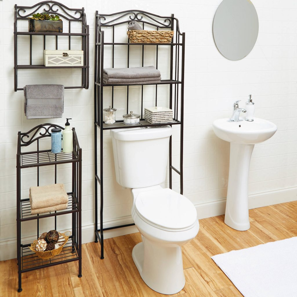 Bathroom Storage 3 Shelf Rack Space Saver Over Toilet Oil Rubbed