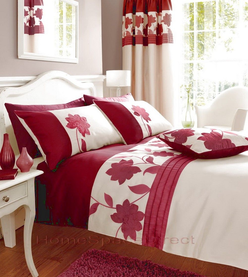 Bedroom Curtains With Matching Bedding Red Bedding Matching