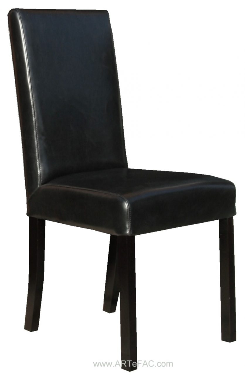 Black Leather Dining Room Chairs And Leather Bar Stools Black