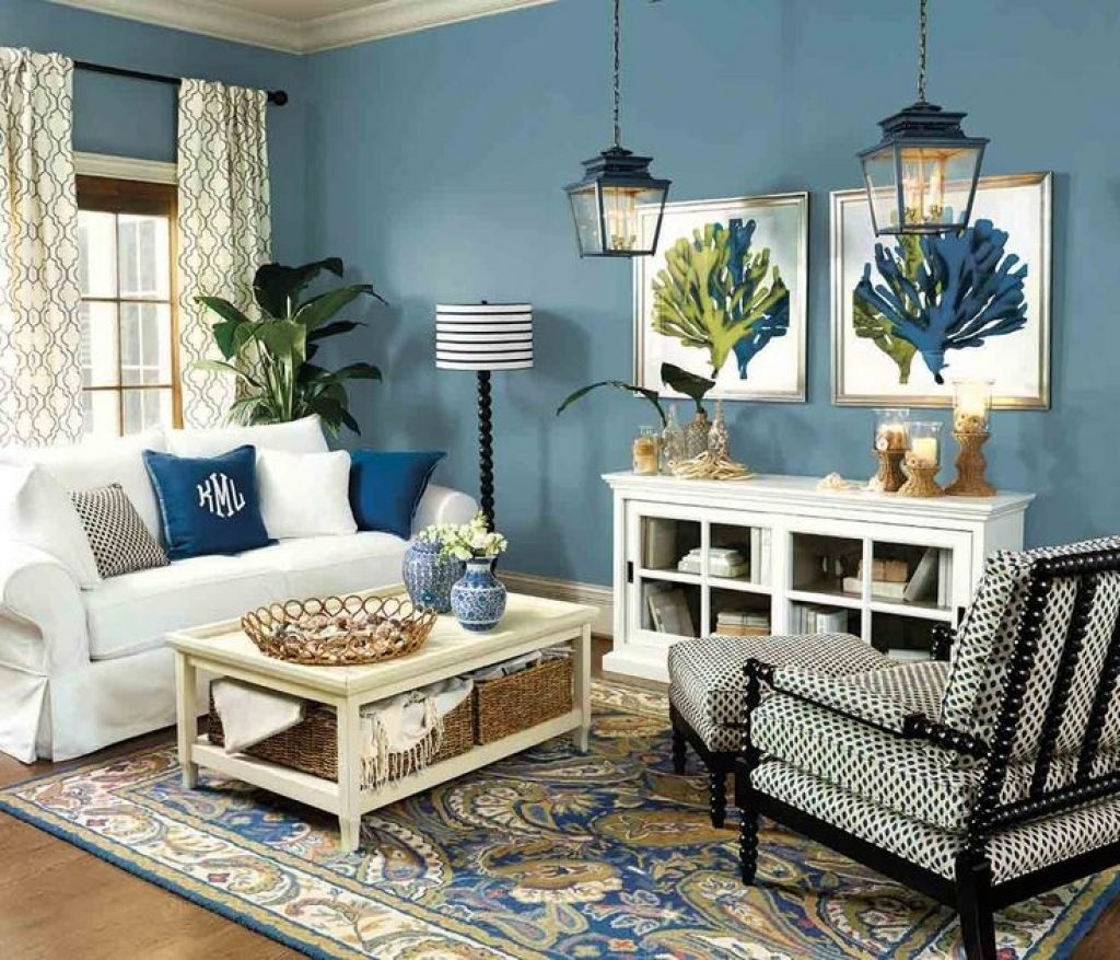 Blue Living Room Ideas Mattressxpressco