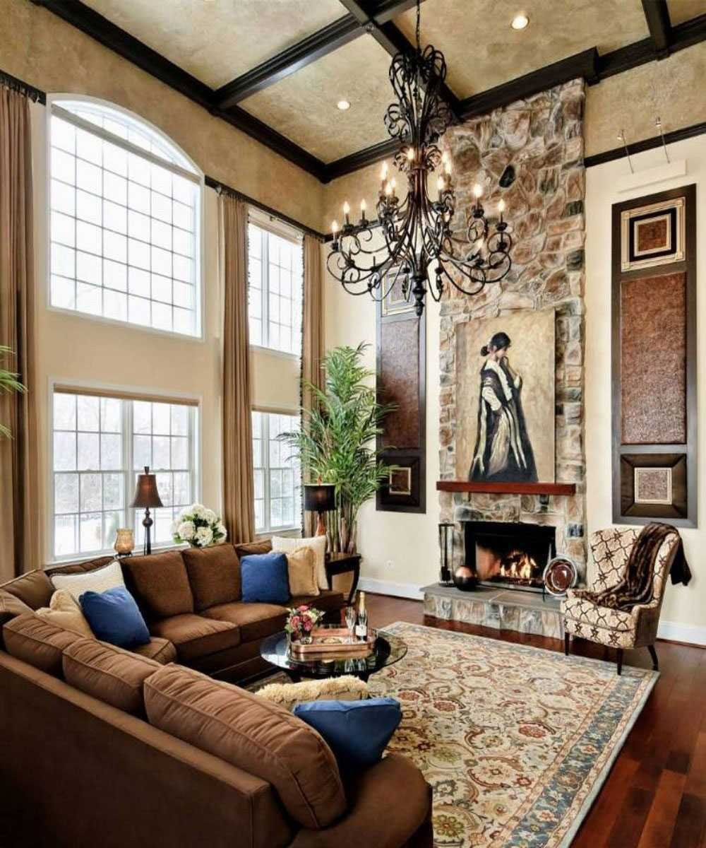 Charming Living Room With High Ceilings Decorating Ideas Decorate