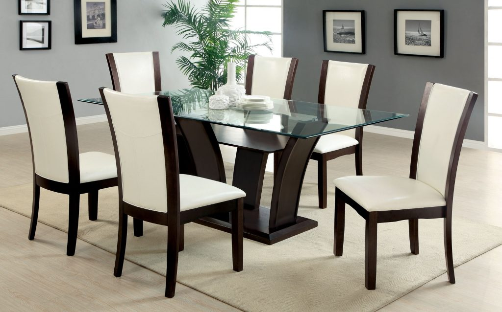 Classy Glass Top Dining Room Sets Esescatrina