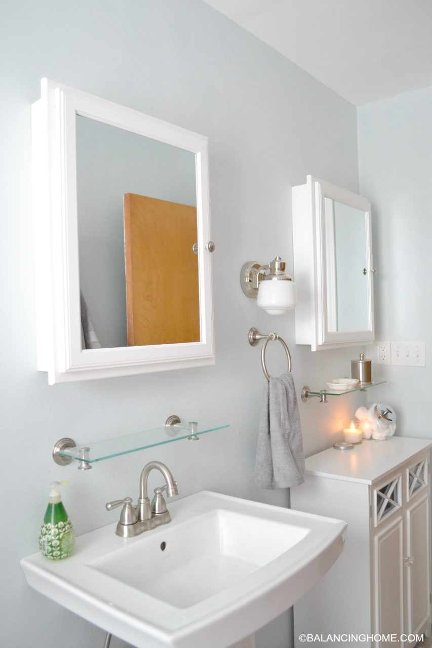 Cleaning Organizing Bathroom With Pedestal Sink Organizing A Small
