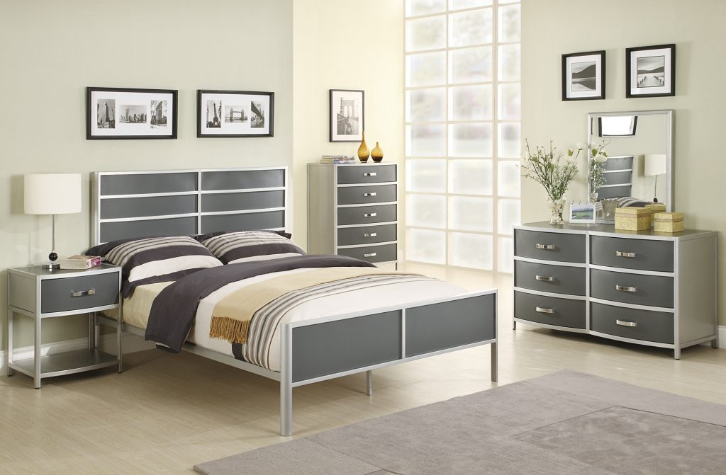 Coaster Furniture Dewey Collection Silver Bedroom Settwin Bed