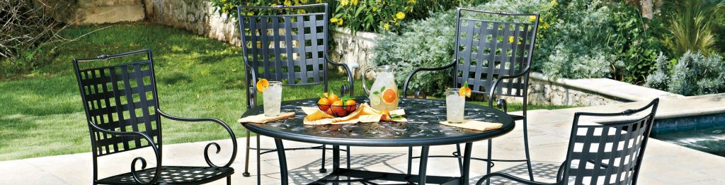 Commercial Grade Outdoor Wrought Iron Patio Furniture