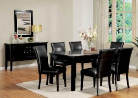 Dining Room Chairs Black Leather