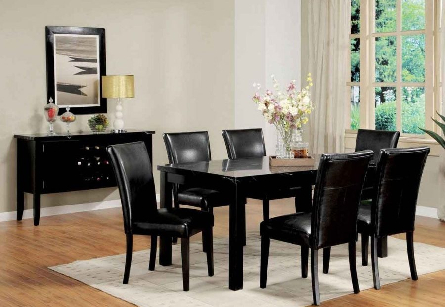 Contemporary Black Leather Dining Room Chairs Awesome Article With