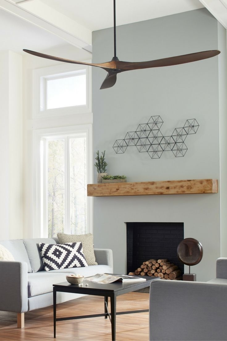 Contemporary Ceiling Fans With Remote Ceiling Fan For Large Living