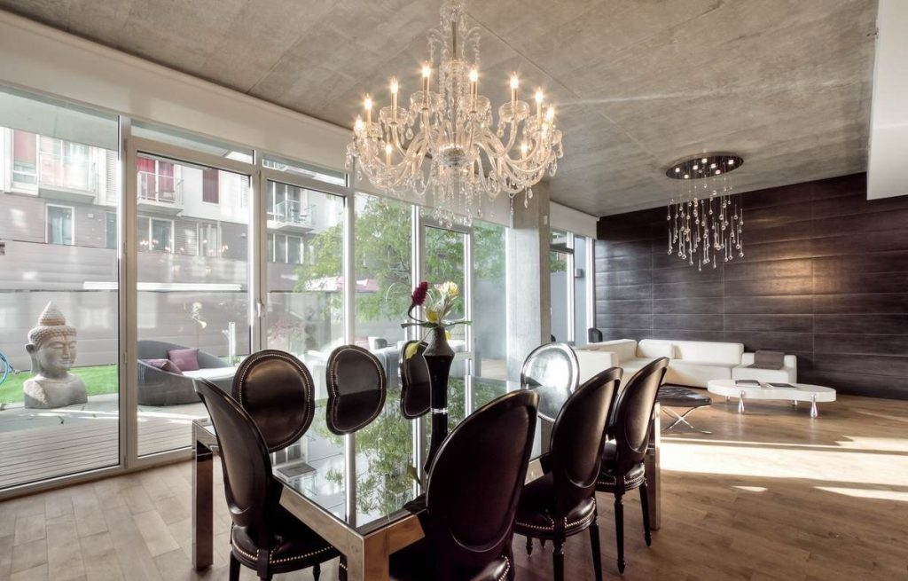 Contemporary Crystal Chandelier For Dining Room All Contemporary
