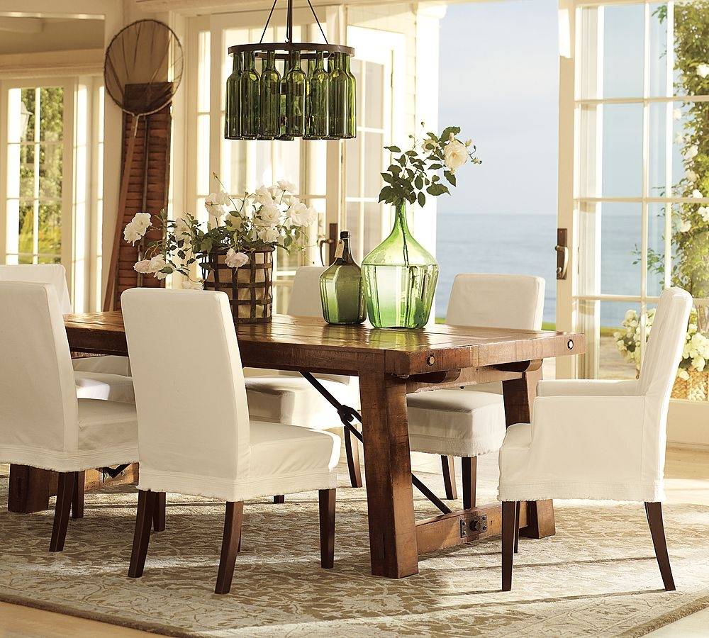 Contemporary Dining Room Set With Square Tapered Table Leg And Cool