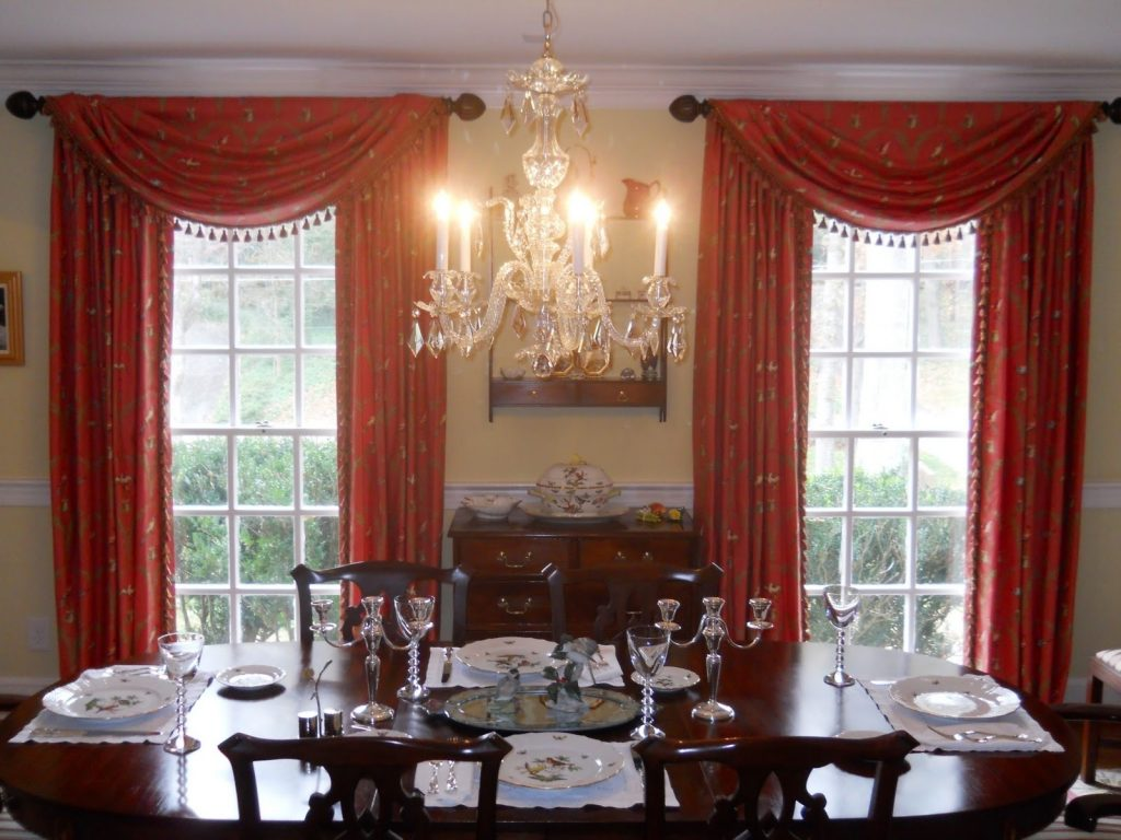 Curtain Dining Room Drapes Ideas Drapery Ideas For Living Room