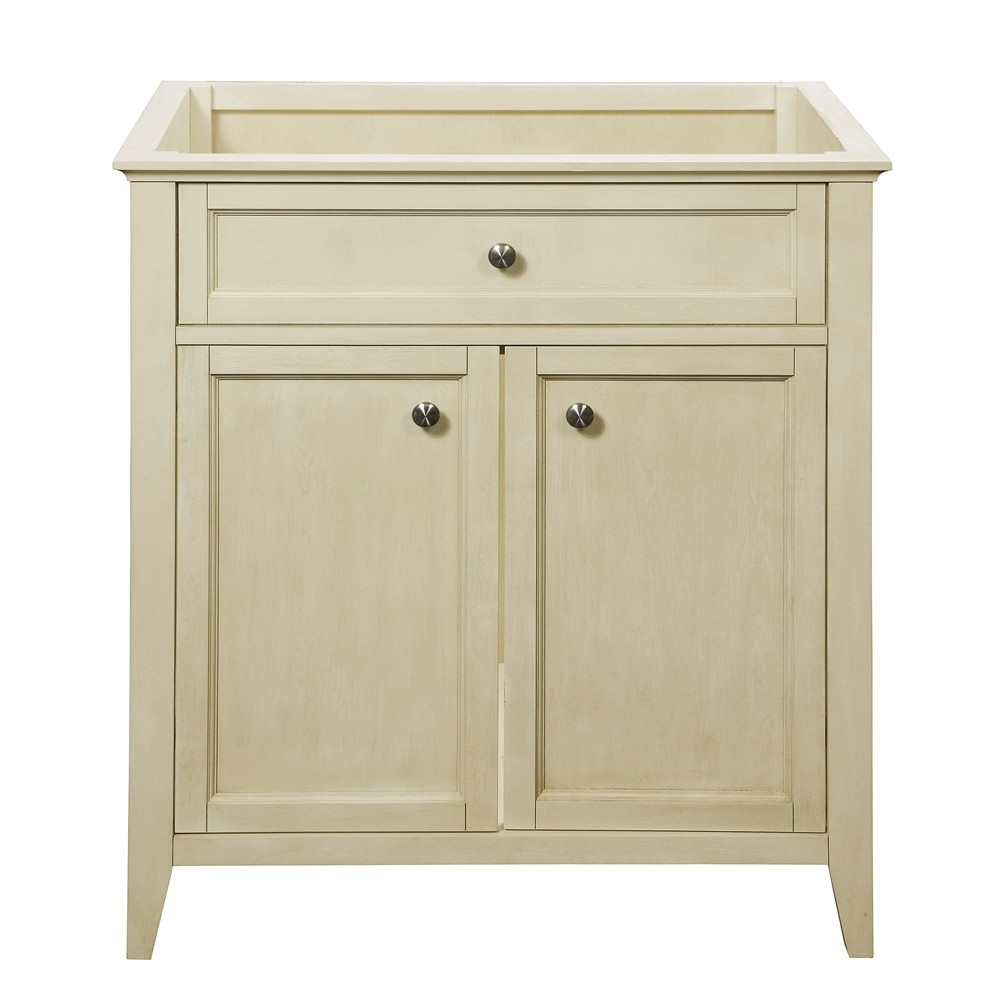 Decolav 3075 Jordan White Traditional Bathroom Vanity Cabinet Only