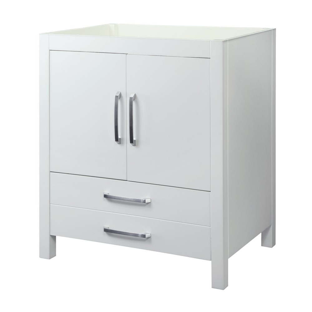 Decolav Cameron 30 Modern Bathroom Vanity Cabinet Only White Finish