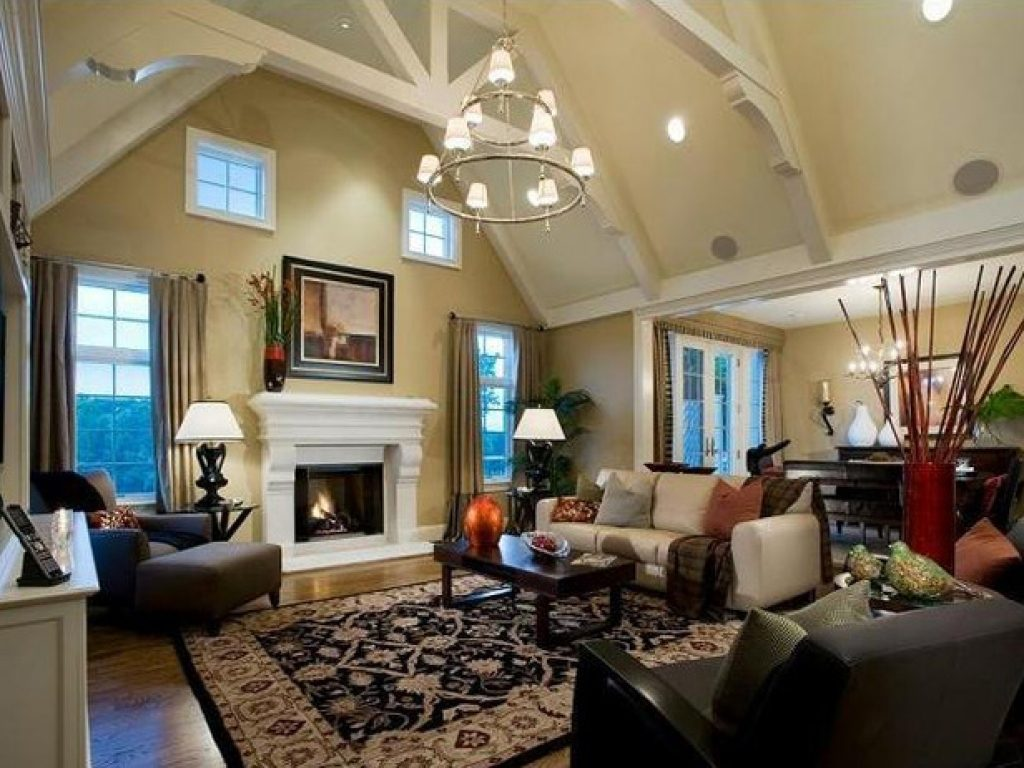 Decorating Ideas For Living Rooms With High Ceilings Decorating