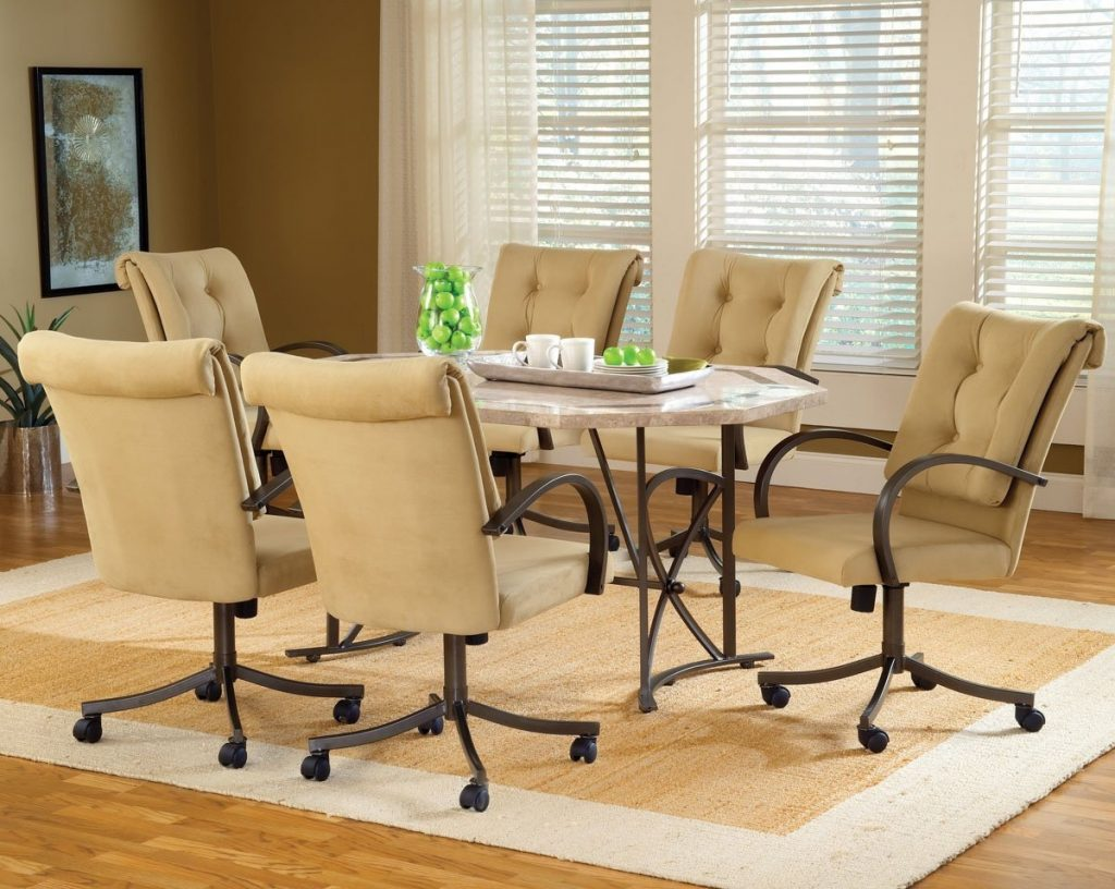 Dining Chairs On Casters Tufted Indoor Outdoor Ideas Trends