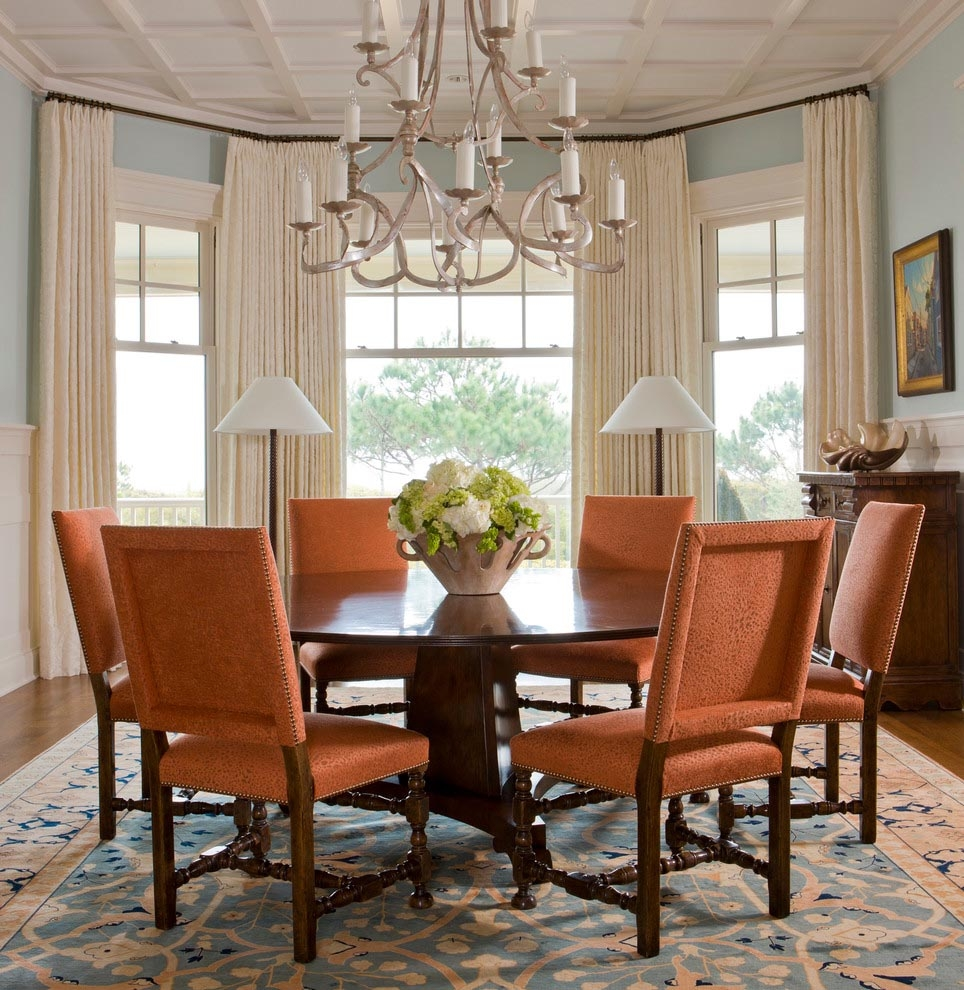 Dining Room Bay Window Treatments Design Ideas Small Living With
