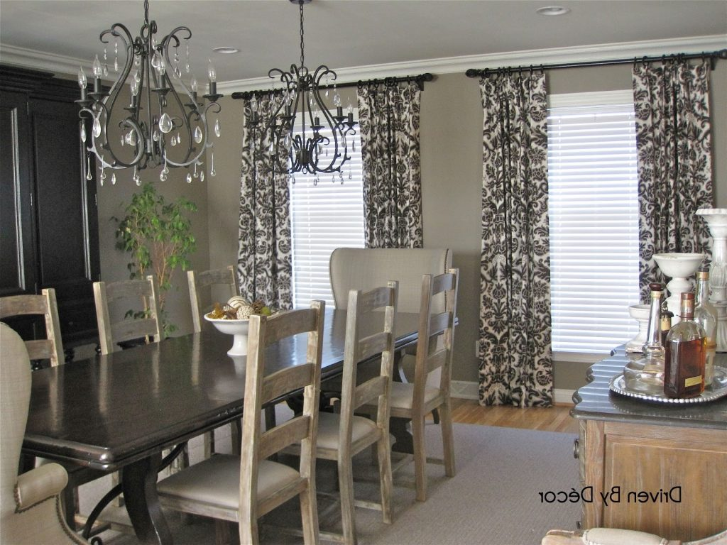 Dining Room Drapes Ideas Window Curtains Sheer Curtain