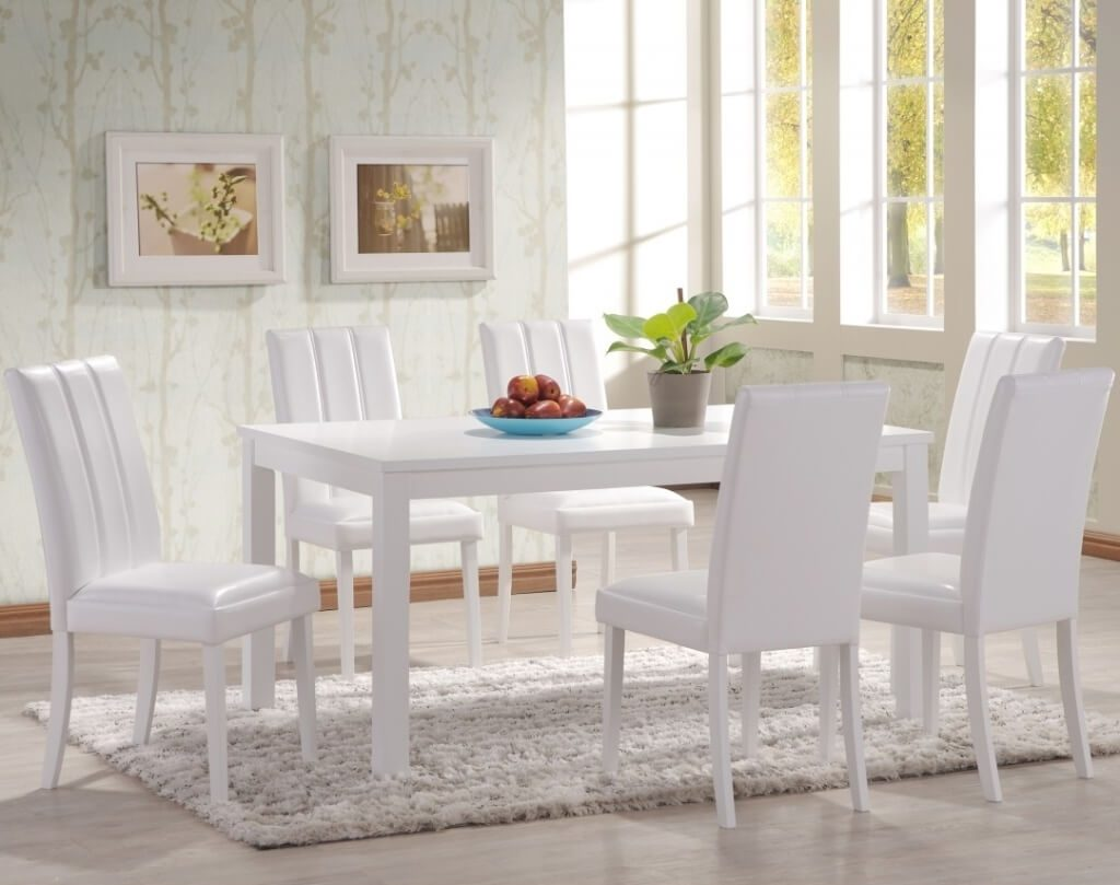 Dining Room Ingenious White Dining Table With Circle Table Leg And