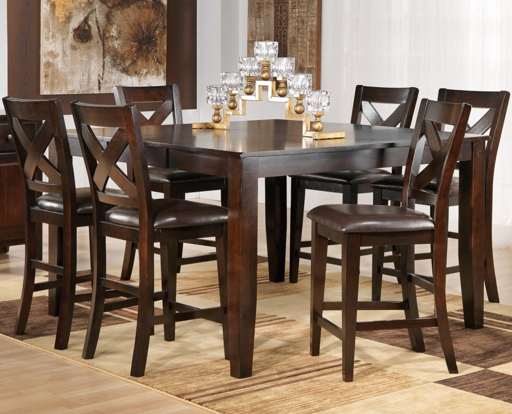 Dining Room Pub Style Dining Set With Square Table Made Counter