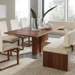 Dining Room Set With Bench Home Design Ideas Top Grain Leather