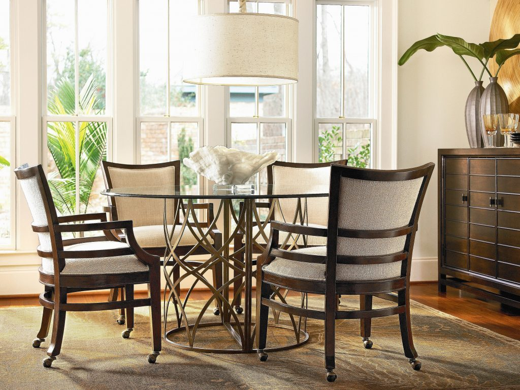 Dining Room Table Chairs Casters Home Decorating Interior Design For