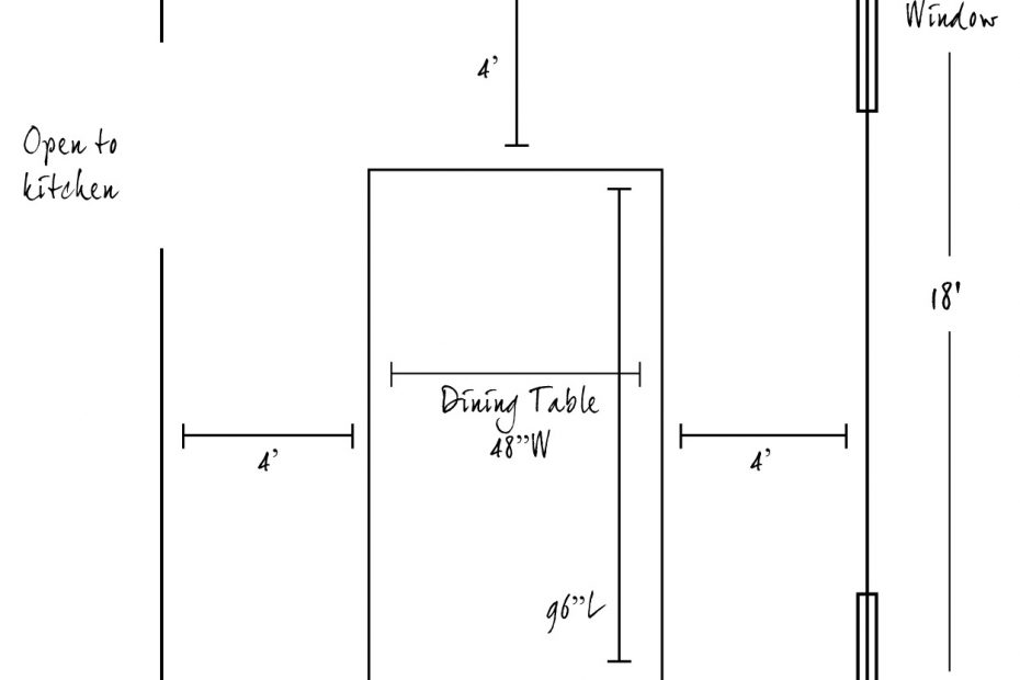 Dining Room Table Dimensions Excellent With Picture Of Dining Room