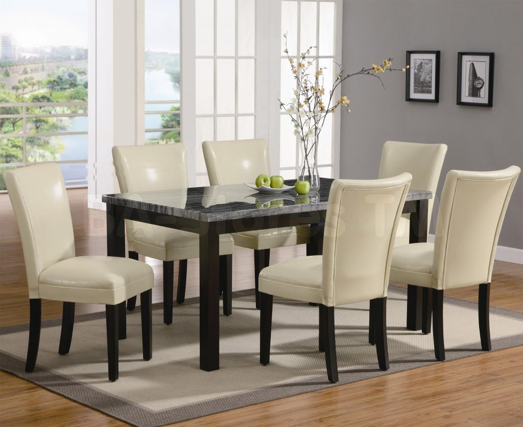 Dining Room Table With Cream Leather Chairs Dining Room Tables