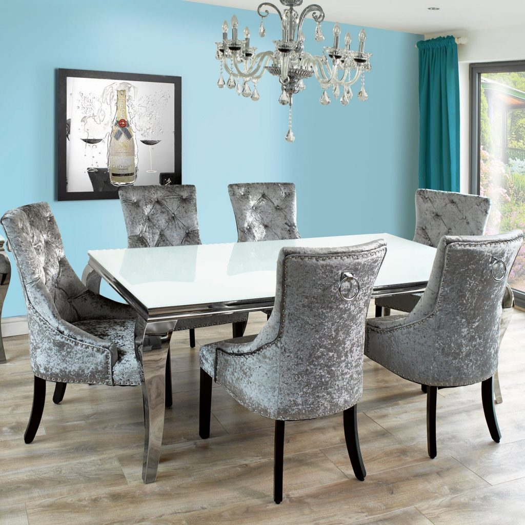 Dining Room Velvet Chairs Home Design Decorating Ideas