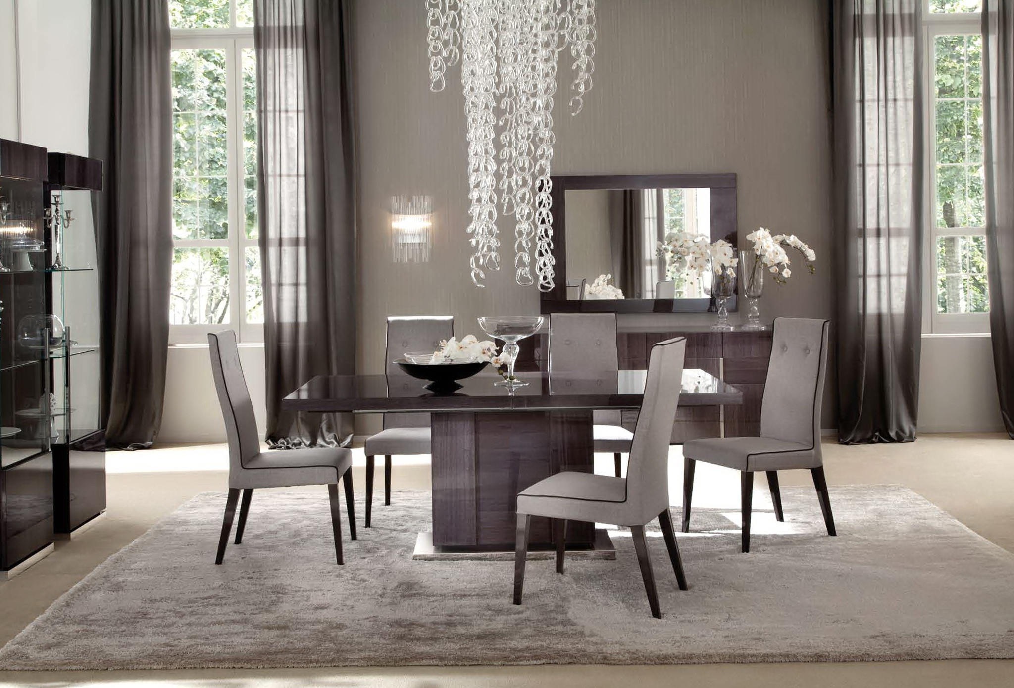 Dining Room Window Curtains New Casual Dining Room Curtain Ideas Layjao