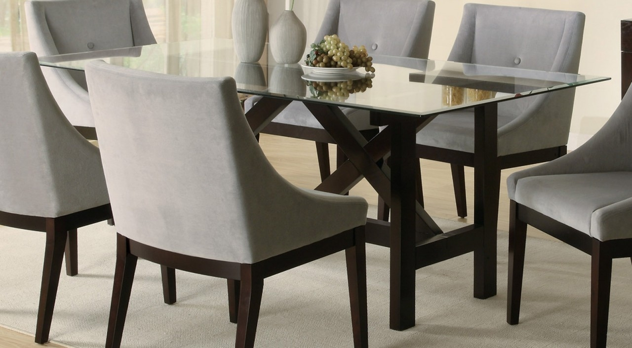 Dining Tables Glamorous Glass Dining Table Sets Glass Top Dining Layjao