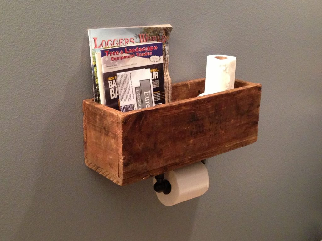 Diy Magazine Rack Toilet Paper Dispenser Very Clever Bath