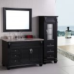 Easier To Clean Bathroom Vanity And Linen Cabinet Combo
